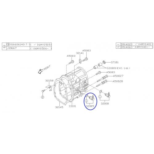 Amortyzator Subaru Forester (SF) 98-02 Daichi przedni prawy