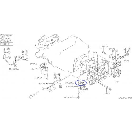 Sworzeń przedniego wahacza 555 do Subaru