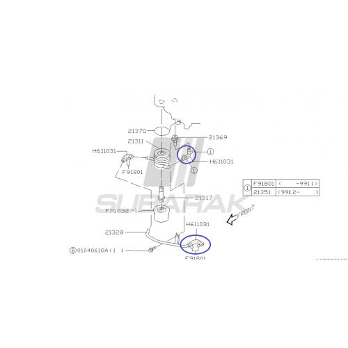 Rozrząd do Subaru N/A DOHC z pompą wody (dwa przeciwległe króćce)