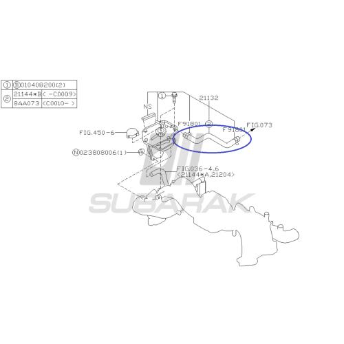 Łożysko mechanizmu różnicowego skrzyni do Subaru Impreza/Legacy/Forester