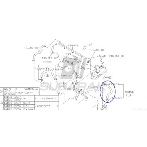 Uszczelka pod głowicę do Subaru Diesel prawa