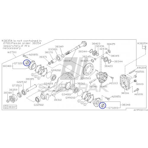 Komplet łożysk do Subaru tył
