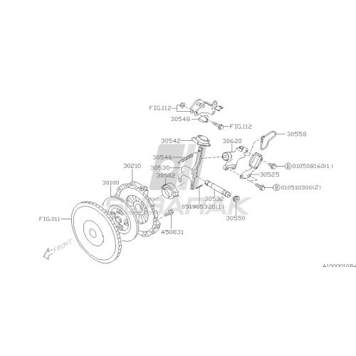 Samoregulator szczęk hamulca recznego do Subaru