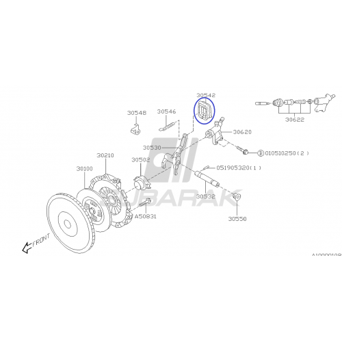 Zawór układu paliwowego do Subaru