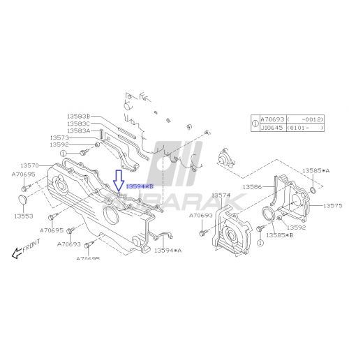Klocki hamulcowe Remsa Subaru Impreza STI przód