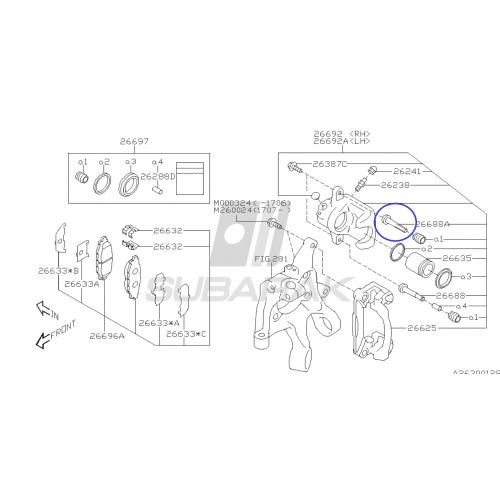 smycz Subaru krótka