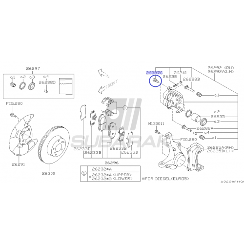 Pasek rozrządu OEM 223/27 do Subaru
