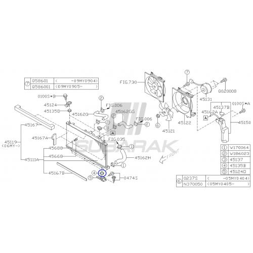 Uszczelka pod głowicę H6 3.0 lewa do Subaru Legacy Outback Tribeca