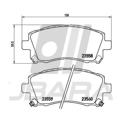 Zestaw naprawczy mechanizmu wycieraczek Dorman do Subaru